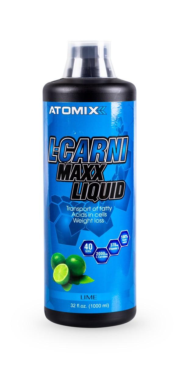 L-карнитин Atomixx nutrition L-carnimaxx liquid 1000 ml green apple