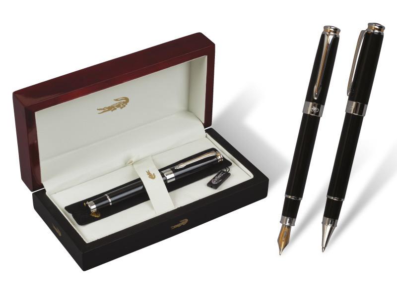 """Ручка перо """"Crocodile"""" 377 (1шт/уп) в подарочной упаковке black"""