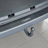 Накладка на бампер Chevrolet Malibu 2012- с загибом, фото 4