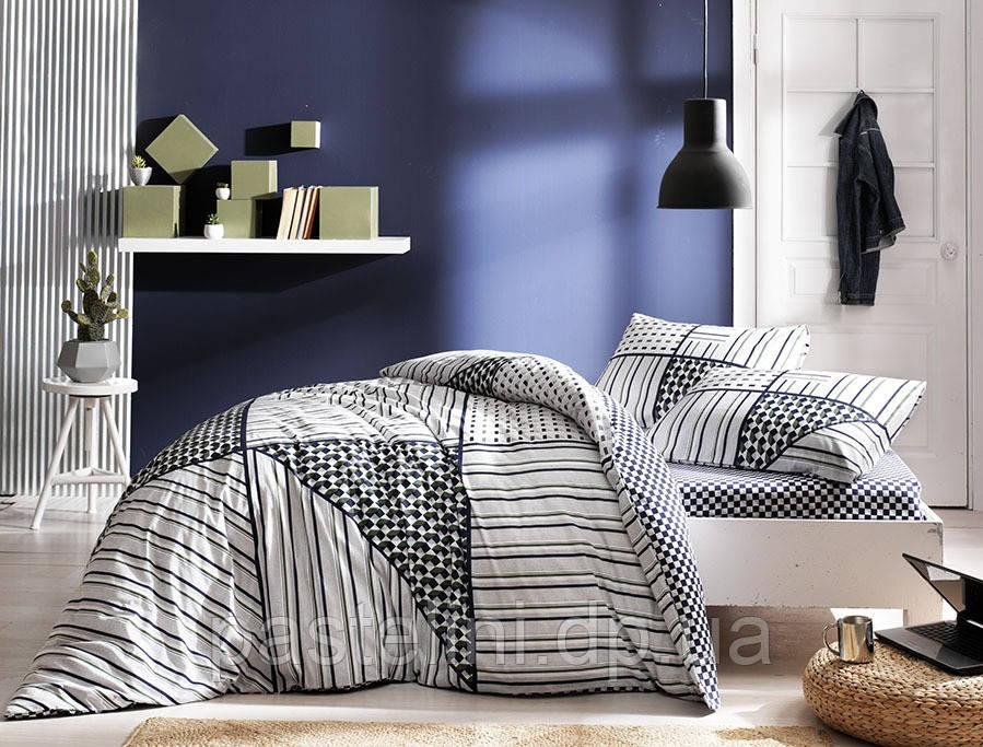 TAC Zone зеленый полуторный комплект постельного белья