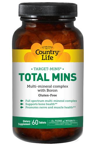 Витаминные и минеральные комплексы Country life Total mins (тотал минз) 60 таблеток