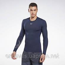 Компрессионная футболка для тренировки Reebok United by Fitness GC8321 2020/2 мужская синяя