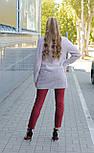 Жіноче демісезонне вкорочене пальто кардиган Д 439, фото 3