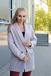 Жіноче демісезонне вкорочене пальто кардиган Д 439, фото 2