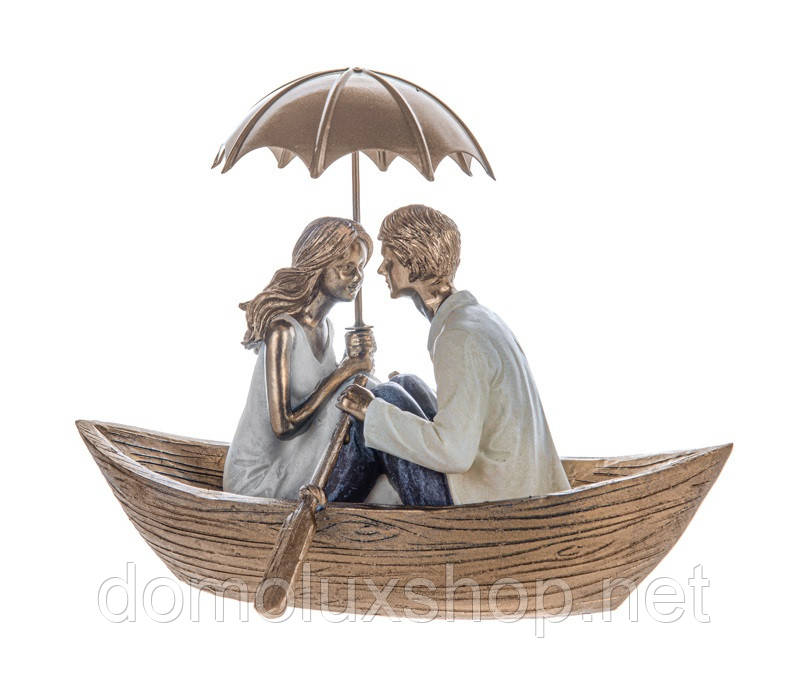 Lefard Фигурка декоративная Пара в лодке (192-073)
