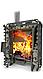 Дровяная печь-каменка Теплодар Сибирский Утес-Панорама 20 ЛП профи с ГЛП, генератор легкого пара, фото 2