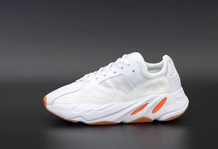 """Кроссовки Adidas Yeezy Boost 700 """"Белые/Оранжевые"""", фото 2"""