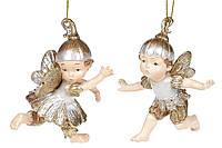 Декоративная подвесная фигурка Лесная фея, 10см, 2 вида, цвет - шампань с золотом