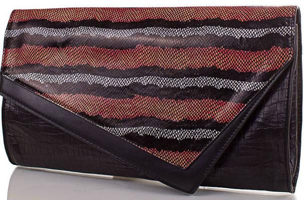 Женский кожаный клатч ETERNO черный, ET15043