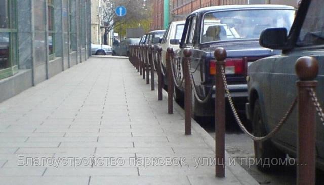 Столбик тротуарный парковочный под бетонирование