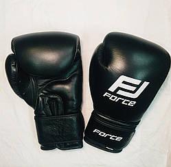 Боксерские перчатки Force 14 ун черные.
