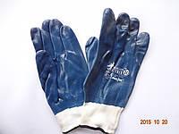 Перчатки синие защитные из полиэфира с нитриловым покрытием REIS DRAGON BLUTRIX (упаковка 12 пар), фото 1