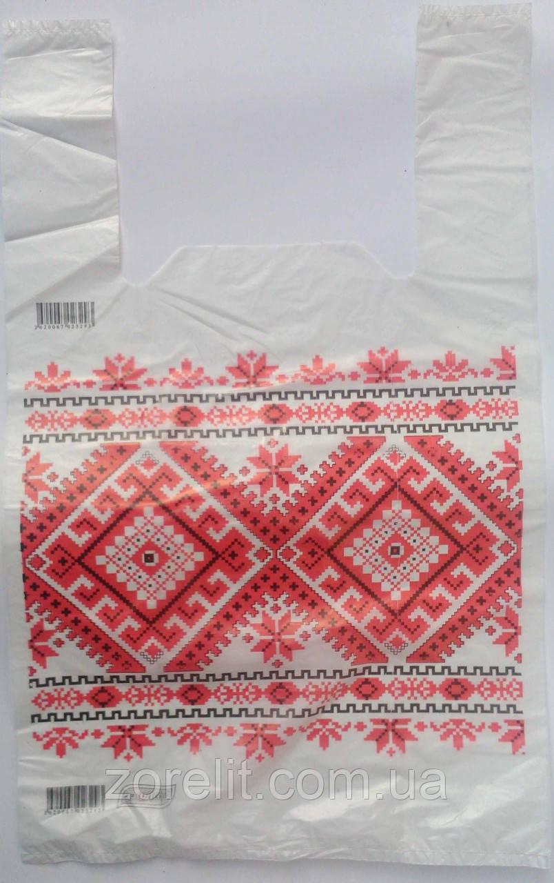 Пакет майка вышиванка 30*50 Еколан