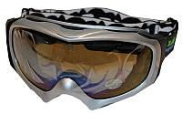 Очки горнолыжные (акрил, пластик, PL, двойные линзы, антифог, цвет линз-прозр,опр.серая)