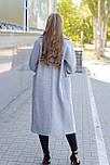 Женское демисезонное пальто кокон серое, фото 2
