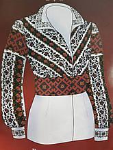 Арт. F2813в. Схема для вишивки жіночої сорочки з викрійкою.