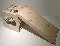 """Детский спортивный развивающий комплекс """"Кубик"""" с горкой-скалолазкой в дом"""
