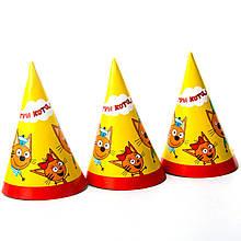 Колпачки детские праздничные три кота 10 шт