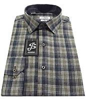 Теплая мужская рубашка в клетку S10-25 - 20-386 V4