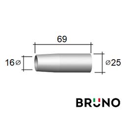 145.D022 Газове сопло D 16/25/69 мм