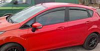 Дефлекторы окон Ford Fiesta VI 5d 2009 | Ветровики Форд Фиеста