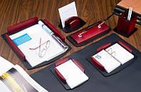 Набор настольный для руководителя 7 предметов красное дерево BST 240025