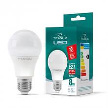 Лампа LED 8W E27 яскравий колір Titanum