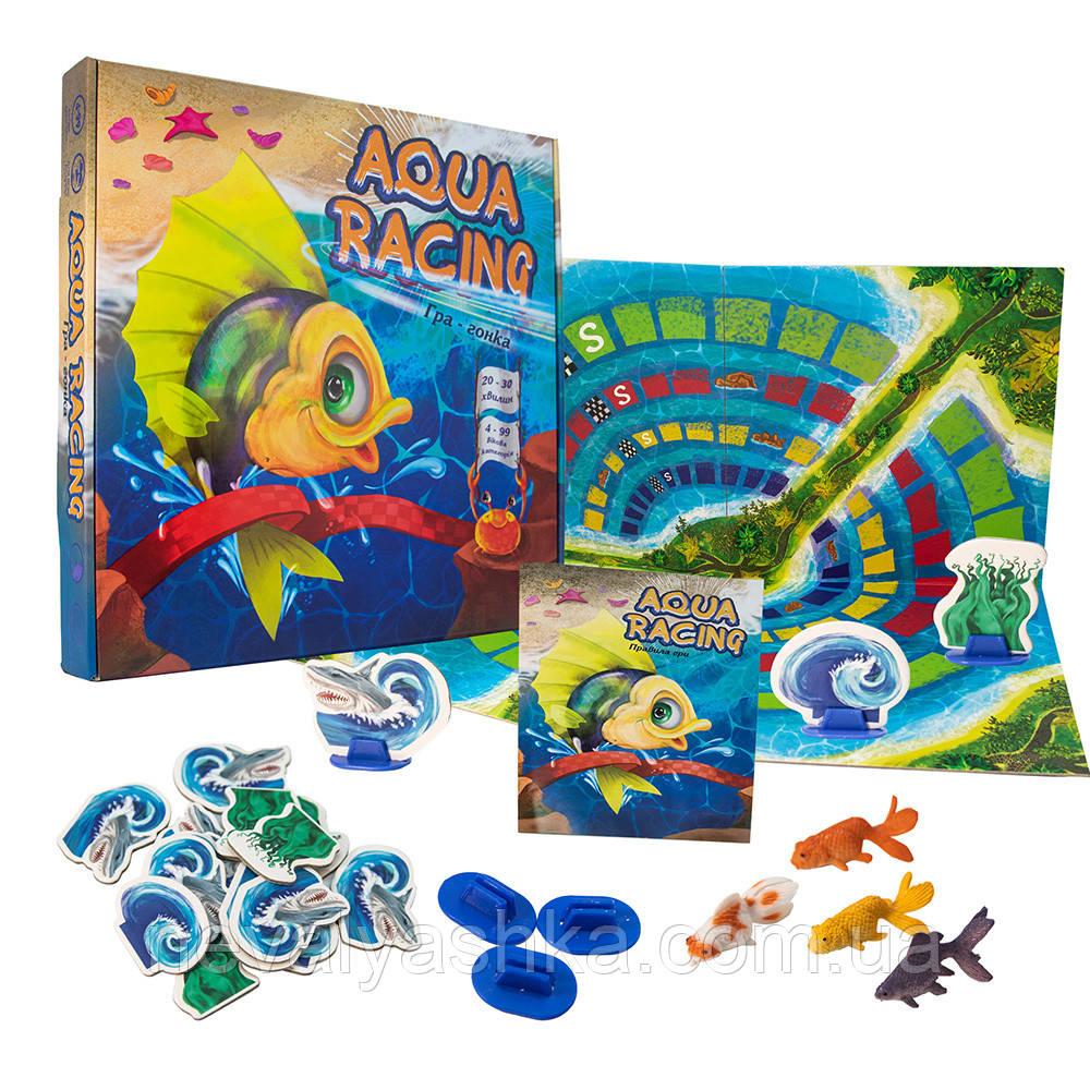 Настольная Игра на Скорость Aqua racing 4+ Игра-Гонка УКР, Strateg Стратег, 30504 012711
