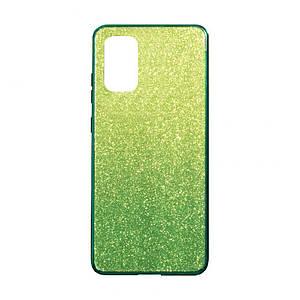 Чохол для Samsung Galaxy S20 Plus скляні з блискітками блискучий яскравий накладка чохол на самсунг с20 плюс +