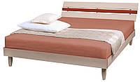 Кровать двуспальная Прагматик (ДСП) молочный+яблоня ТМ АМФ