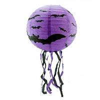 Декор підвісний (30см) фіолетовий з кажаном