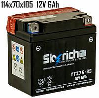 Аккумулятор 6Ah 12VSkyrich YTZ7S-BS SLA 114x70x105