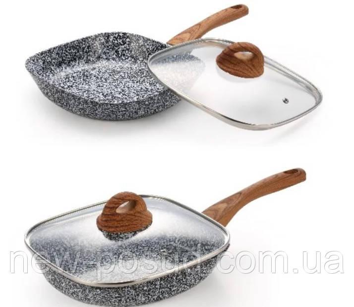 Сковорода з антипригарним покриттям, з кришкою 20 см Edenberg EB-3341