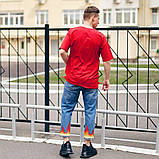 Футболка оверсайз базовая мужская Пушка Огонь Lindra красная, фото 5
