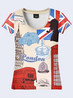 Женская футболка с принтом Лондон