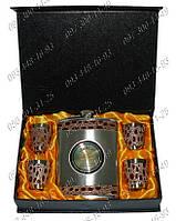 Подарочные наборы для мужчин Фляга Jim Beam GT-16 Походная фляга Фляга+4рюмки Набор подарочный фляга