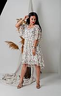 Легкое летнее платье двойка свободного кроя