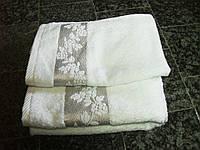 Набор полотенец махровых 30*50, 50*100 и 70*140, 100% хлопок, Турция, белый с узором