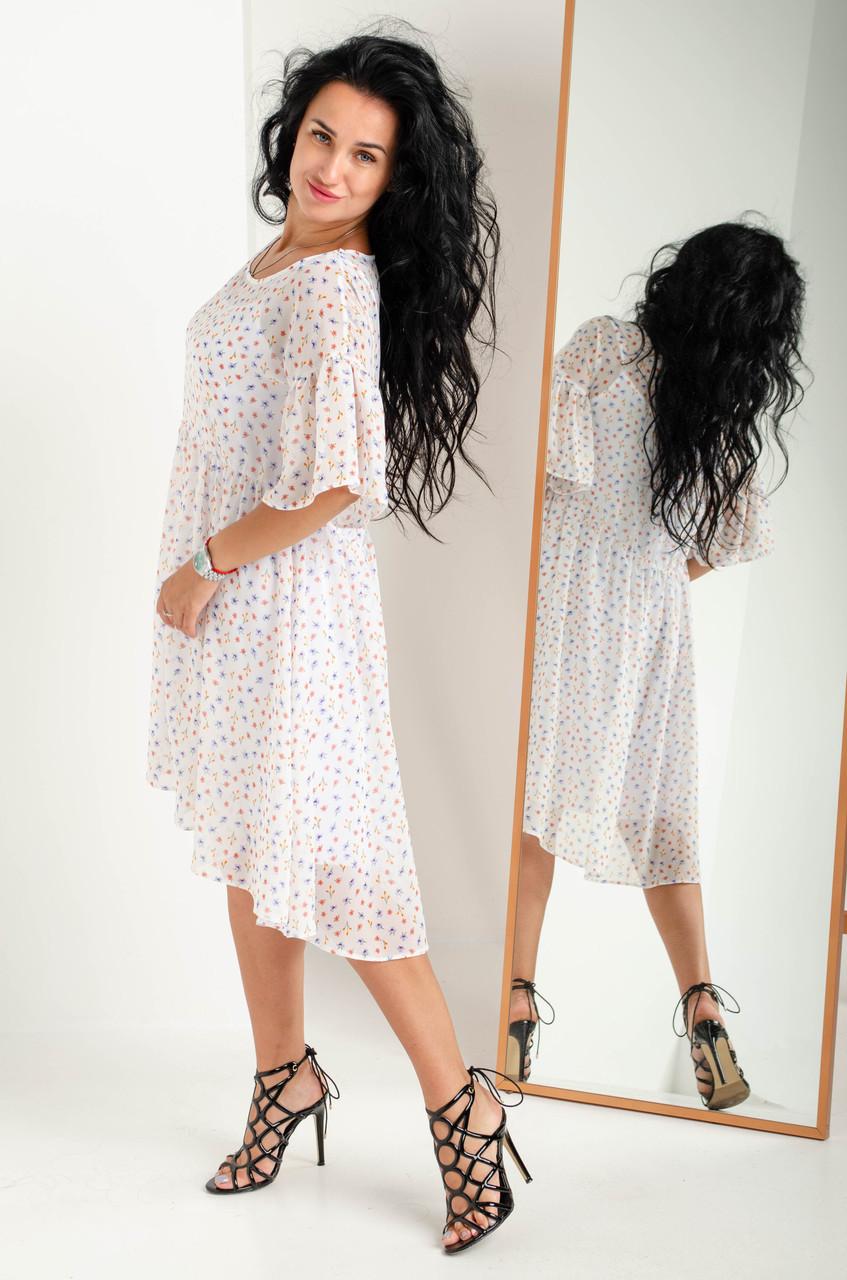 Женское летнее платье двойка свободного кроя