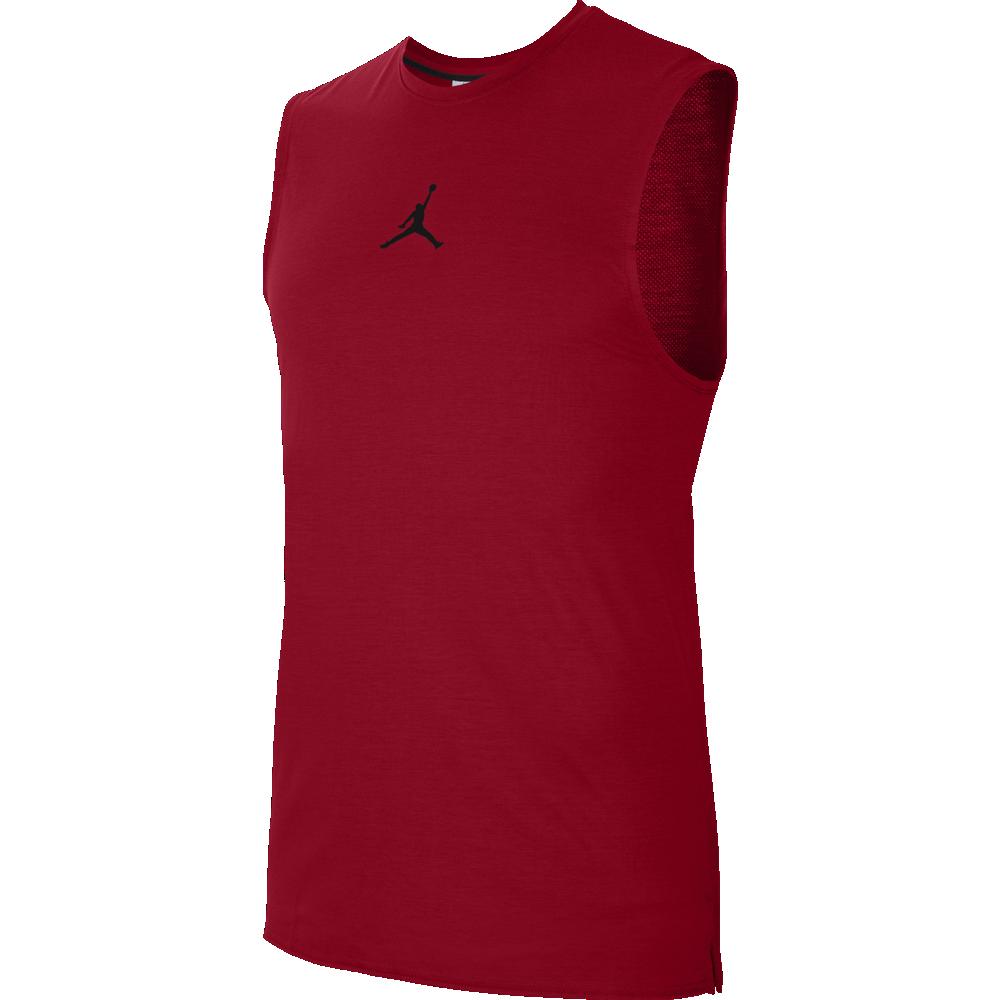 Майка баскетбольная мужская Nike AIR TOP размер L, XL полиэстер красная (CU1024-687)
