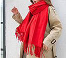 Стильний щільний шарф накидка палантин, платок, фото 2