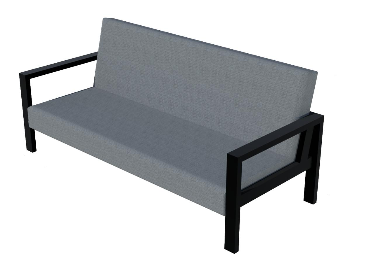 Сірий диван LOFT в кафе від виробника