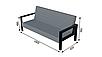 Сірий диван LOFT в кафе від виробника, фото 4
