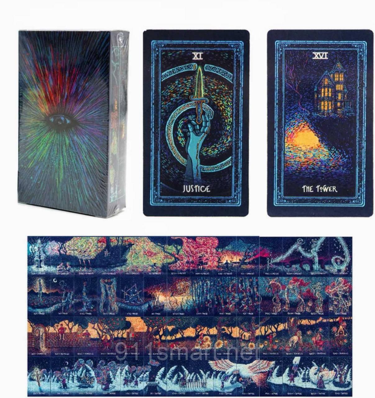 Таро Призма (Prisma visions tarot) с Серебряным срезом. Адекватное Таро карты.