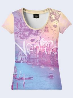 Женская футболка с рисунком Венеция Карнавал