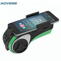 Велоакустика Aoveise AV127 с блютуз, фонариком и креплением телефона