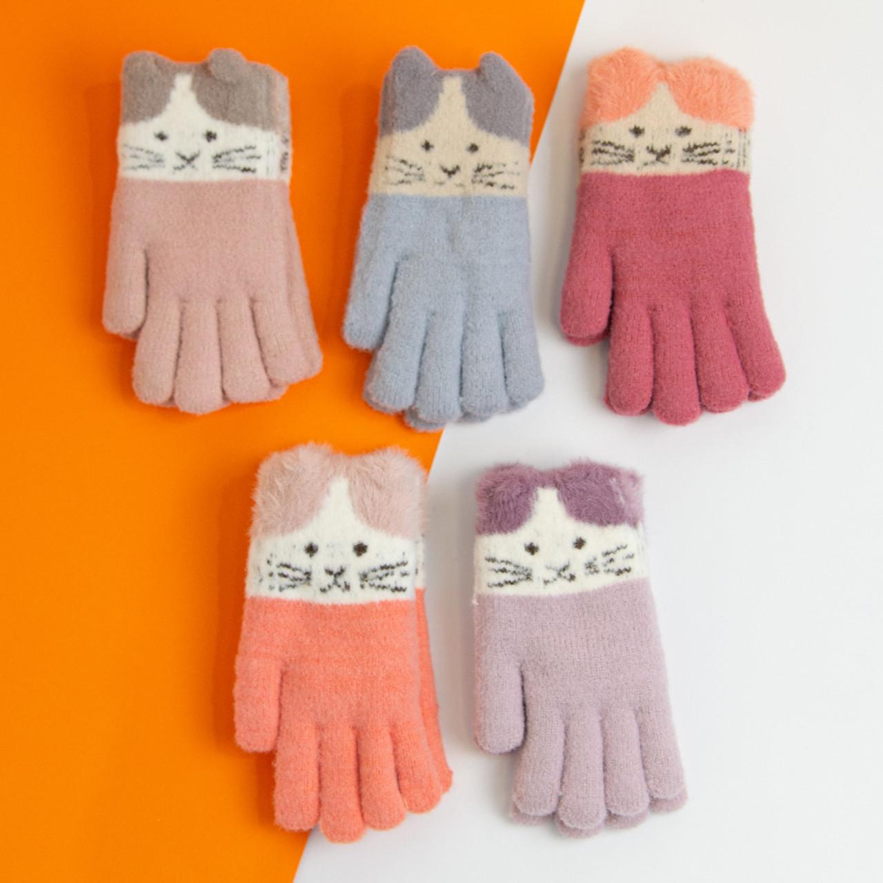 Оптом рукавички від 12 років для дівчаток зимові (арт. 20-25-20)