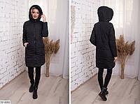 Женское демисезонное пальто с карманами, фото 1