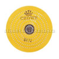 Круг муслиновый CROWN 150 мм 6х12 желтый (кож пятак)
