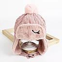 Зимняя шапка С-88 Розовая, фото 2